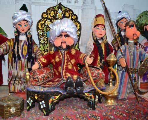 Dukker på marked i Samarkand