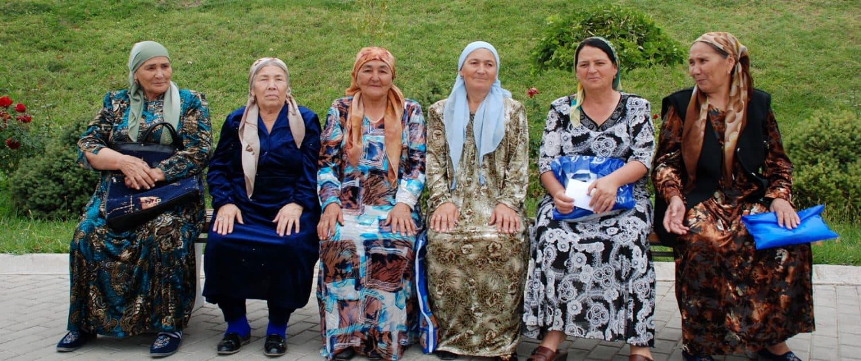 Kvinder i Tashkent i Usbekistan