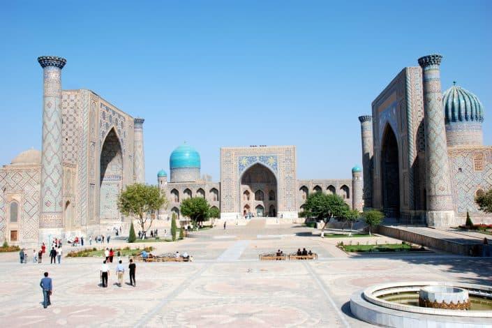 Registanpladsen i Samarkand