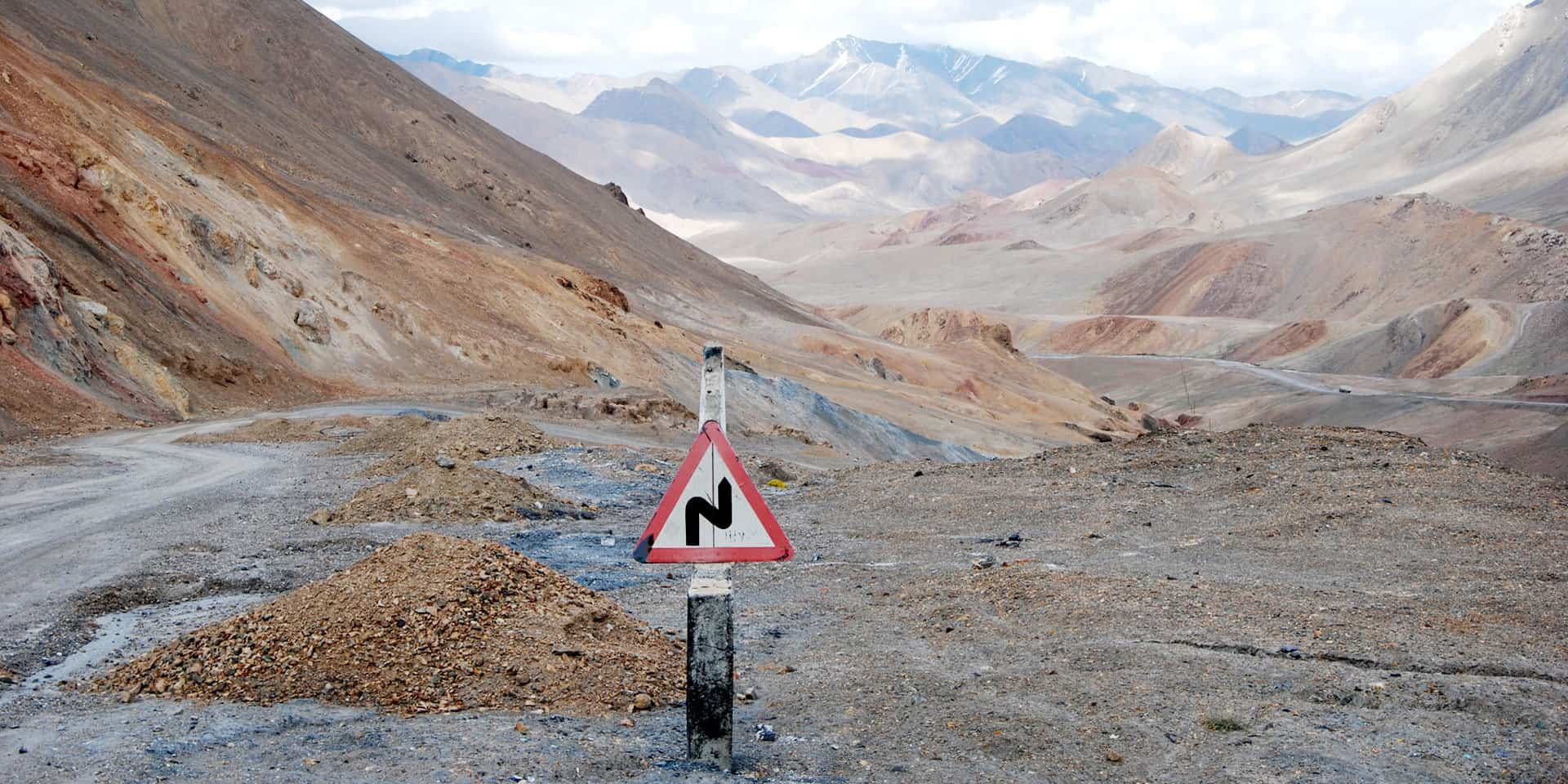 Hårnålesving på Pamir Highway