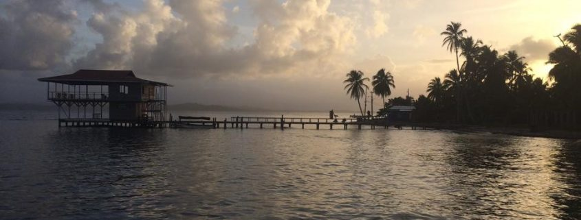 Vandudsigt ved Caribien og Panama