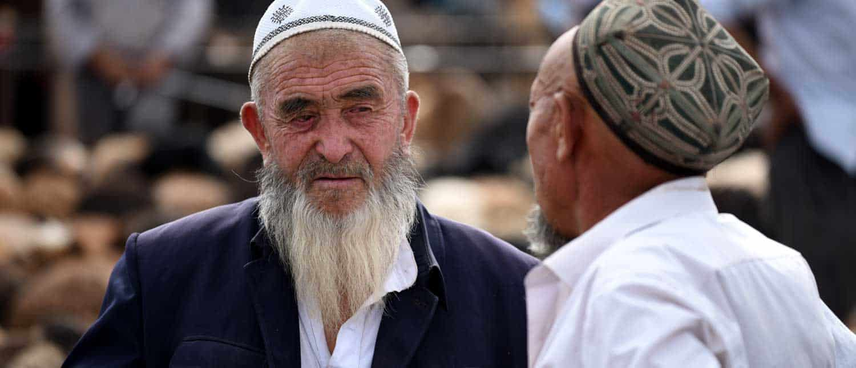 Lokale mænd i Samarkand