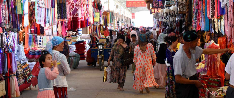 Marked på rejser på Silkevejen