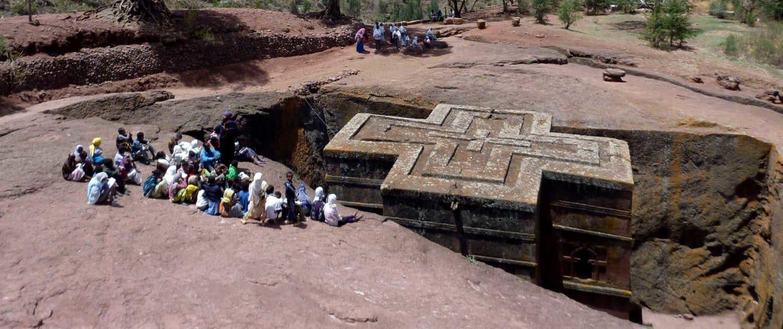 Klippekirke i Lalibela i Etiopien