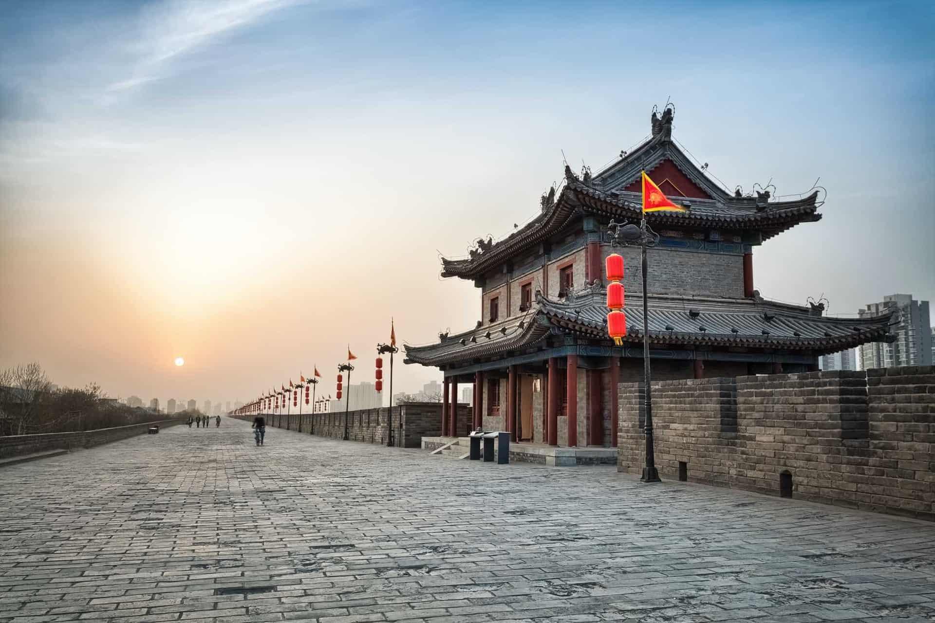 Xian city wall på rejser til silkevejen