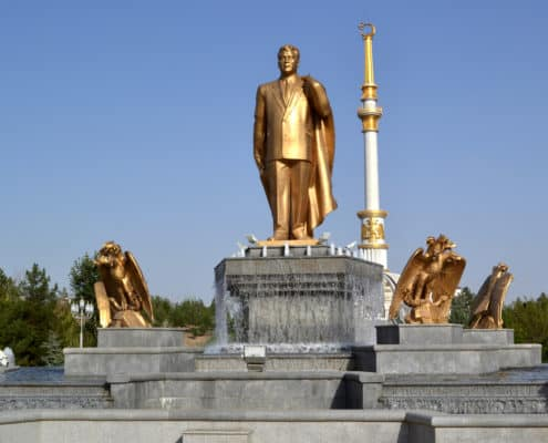 Præsident Niyazov i Ashgabat Turkmenistan