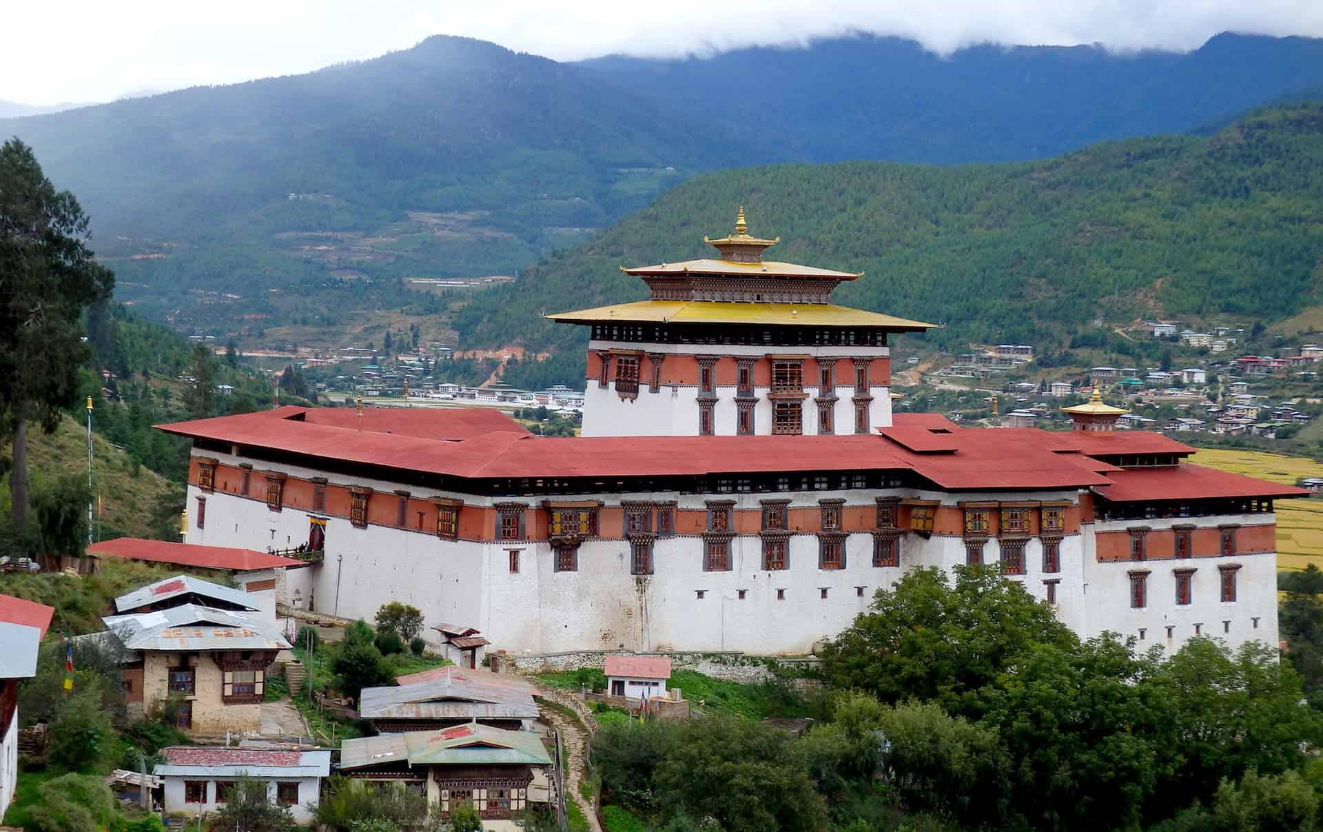 Punakha dzong set fra oven