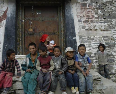 Gyantse børn i Tibet