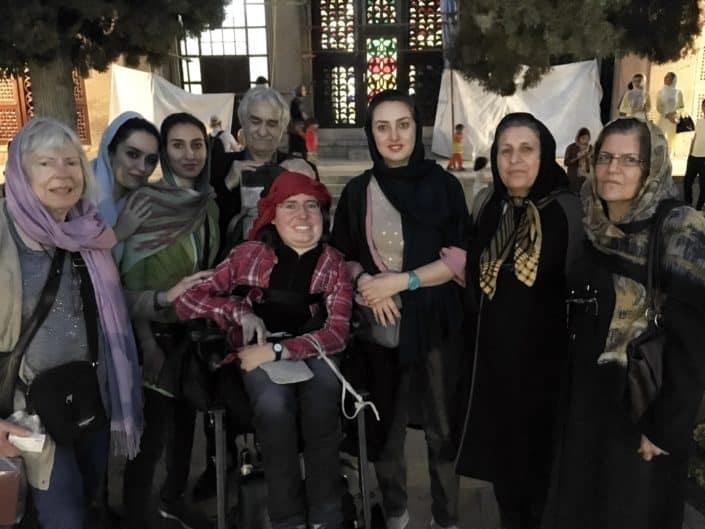 Venlige iranere i Shiraz i Iran