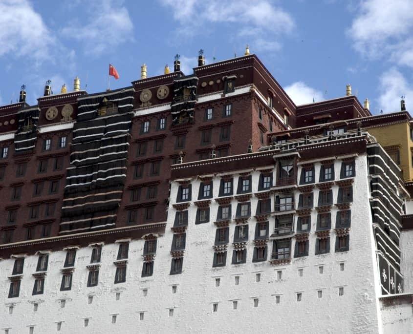 Potalapaladset i Lhasa på rejser til Tibet