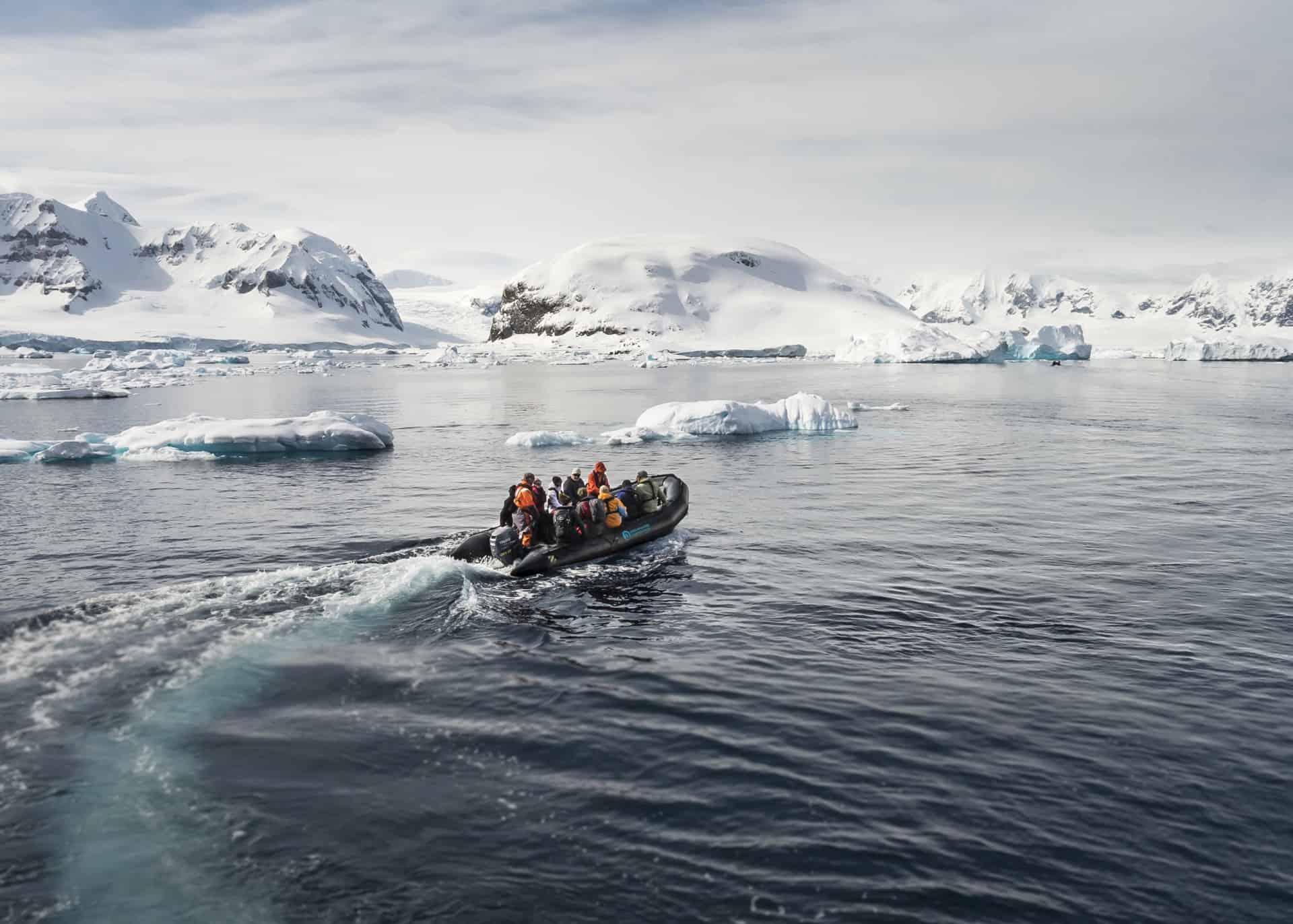 Den Antarktiske Halvø på rejser til antarktis