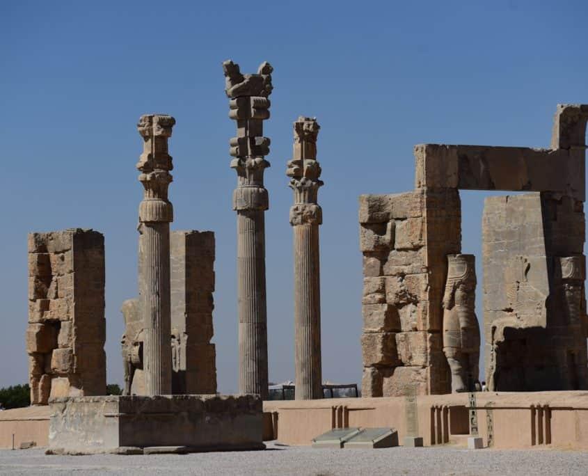 Arkitektur på Persepolis på rejser til Iran