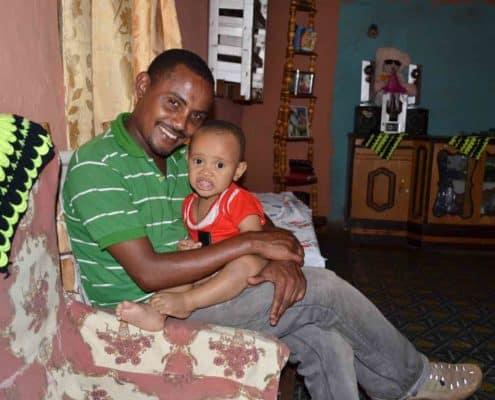 Andualem og søn i Etiopien