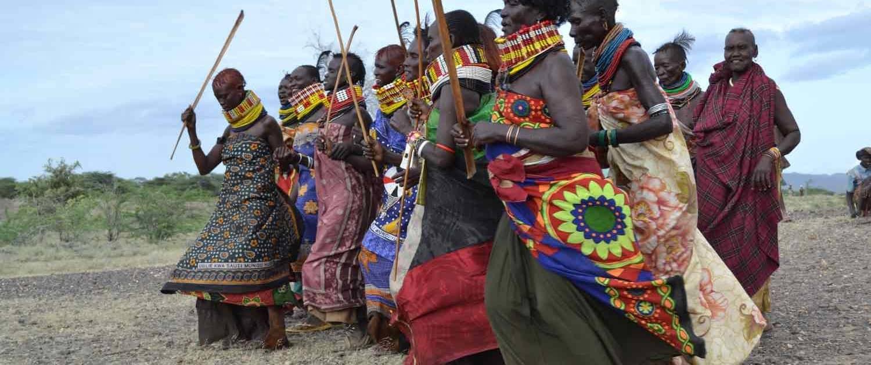Turkanafolket ved bryllupsceremoni