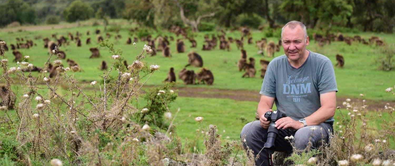 Fotograf i naturen i Etiopien