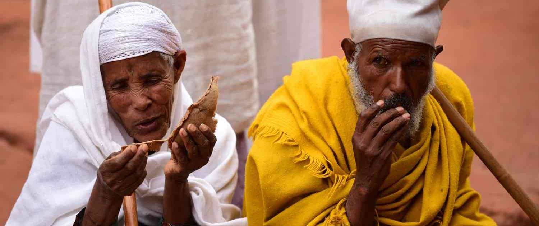 Lokale stammefolk i Etiopien