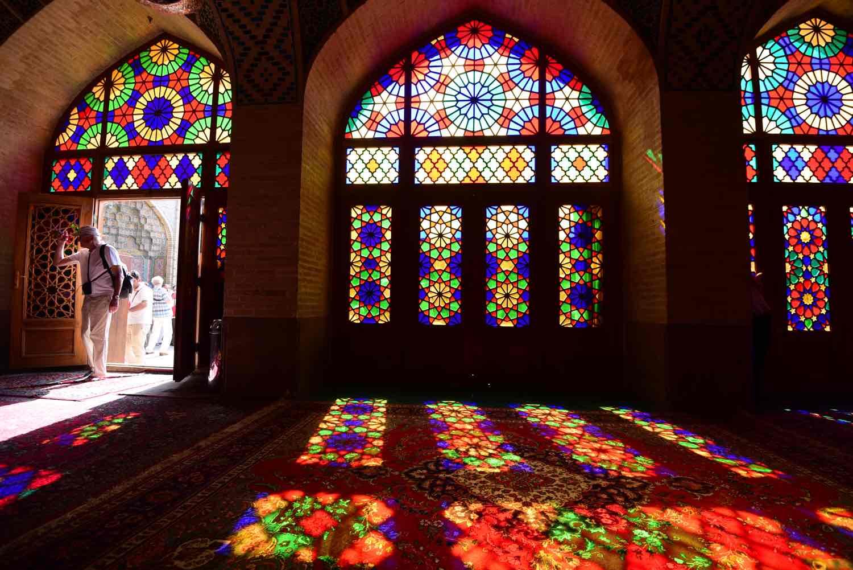 Pink Moské set indefra på rejse til Iran