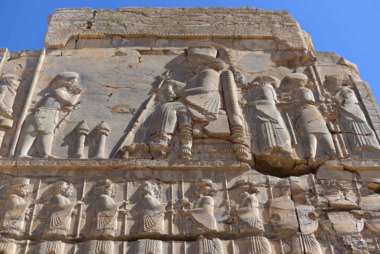 Vægskulptur i Persepolis