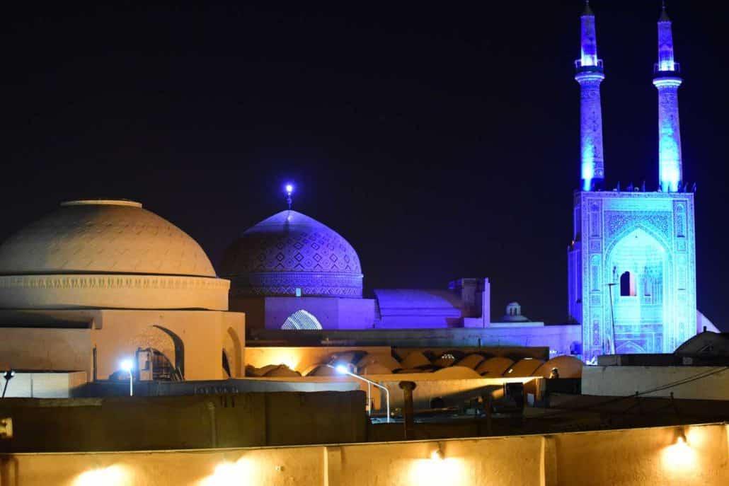 Isfahan i aftenlyset