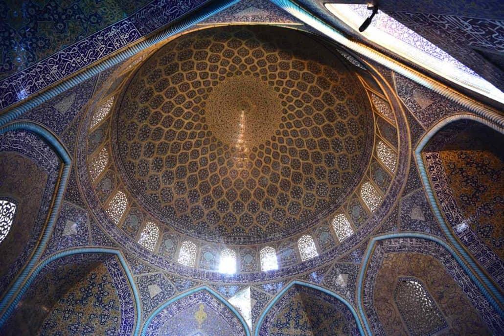 Rejser til Iran - Shah Moské set indefra