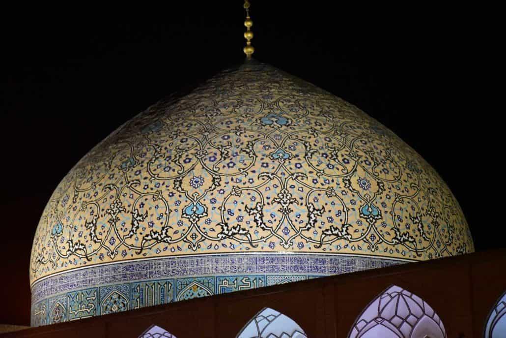 Kuppel på Emam-pladsen i Isfahan