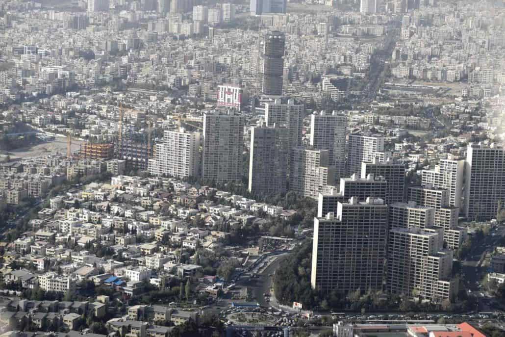 Teheran set oppefra på Iranrejser