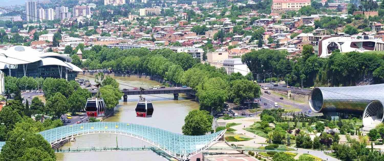 Tbilisi, hovedstaden i Georgien