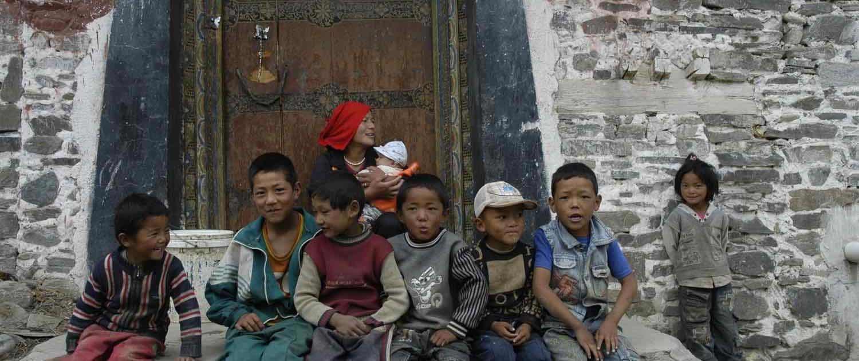Tibetanske børn - Gyantse folk