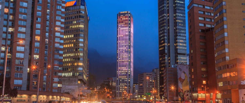 Bogotá om aftenen
