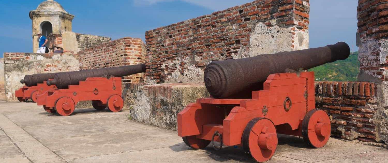 Kanoner i den gamle by, Cartagena