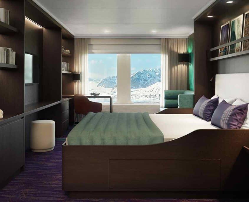 Hondisu luksuskahyt med udsigt til isbjerge