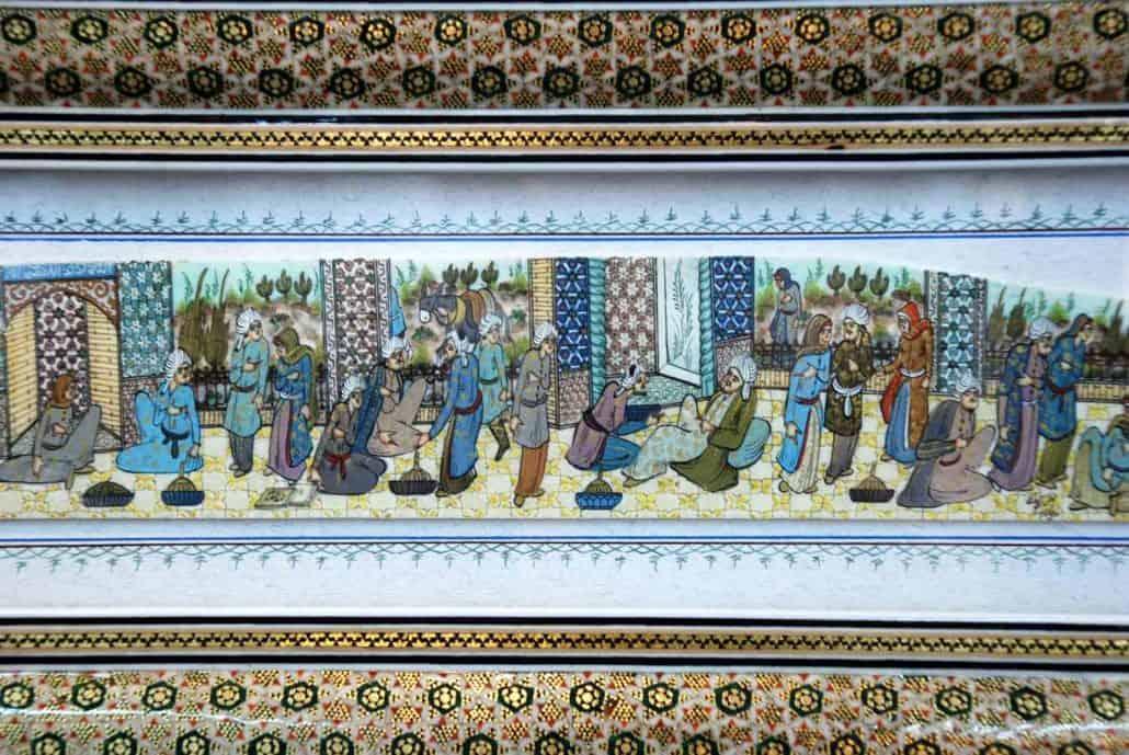 Miniaturemaleri i Isfahan på rejser til Iran