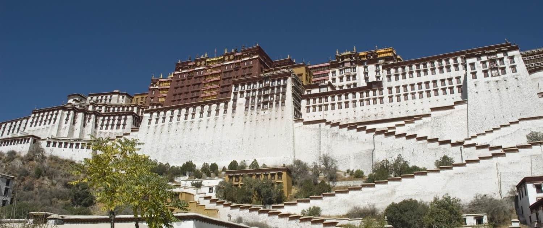 Potala palads i Lhasa på rejser til Tibet
