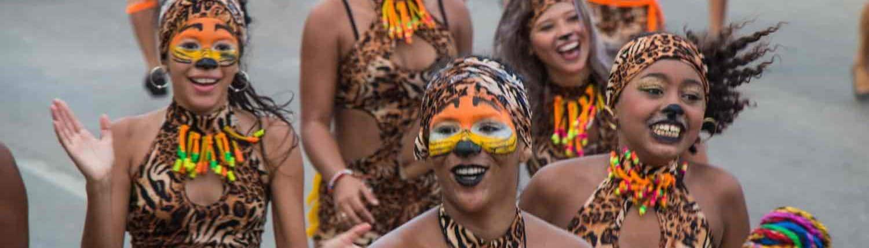 Optog til karneval i Colombia