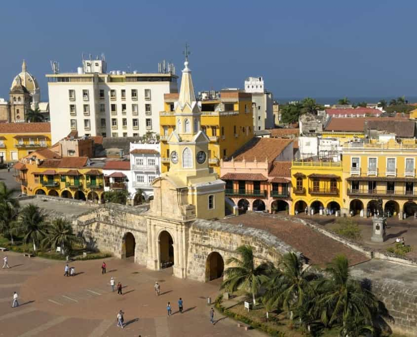Den gamle by Cartagena på rejser til Colombia
