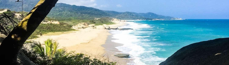 Tayrona strand den den caribiske kyst
