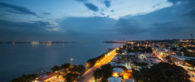 Brazzaville i Congo set oppefra
