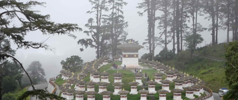 108 stupaer på rejser til Bhutan