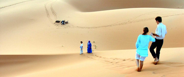 Endeløse klitter i Marokkos ørken