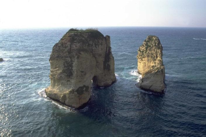 Pigeon Rock dueklippen I Libanon