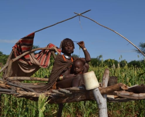 Hamerfolk i Omodalen i Etiopien
