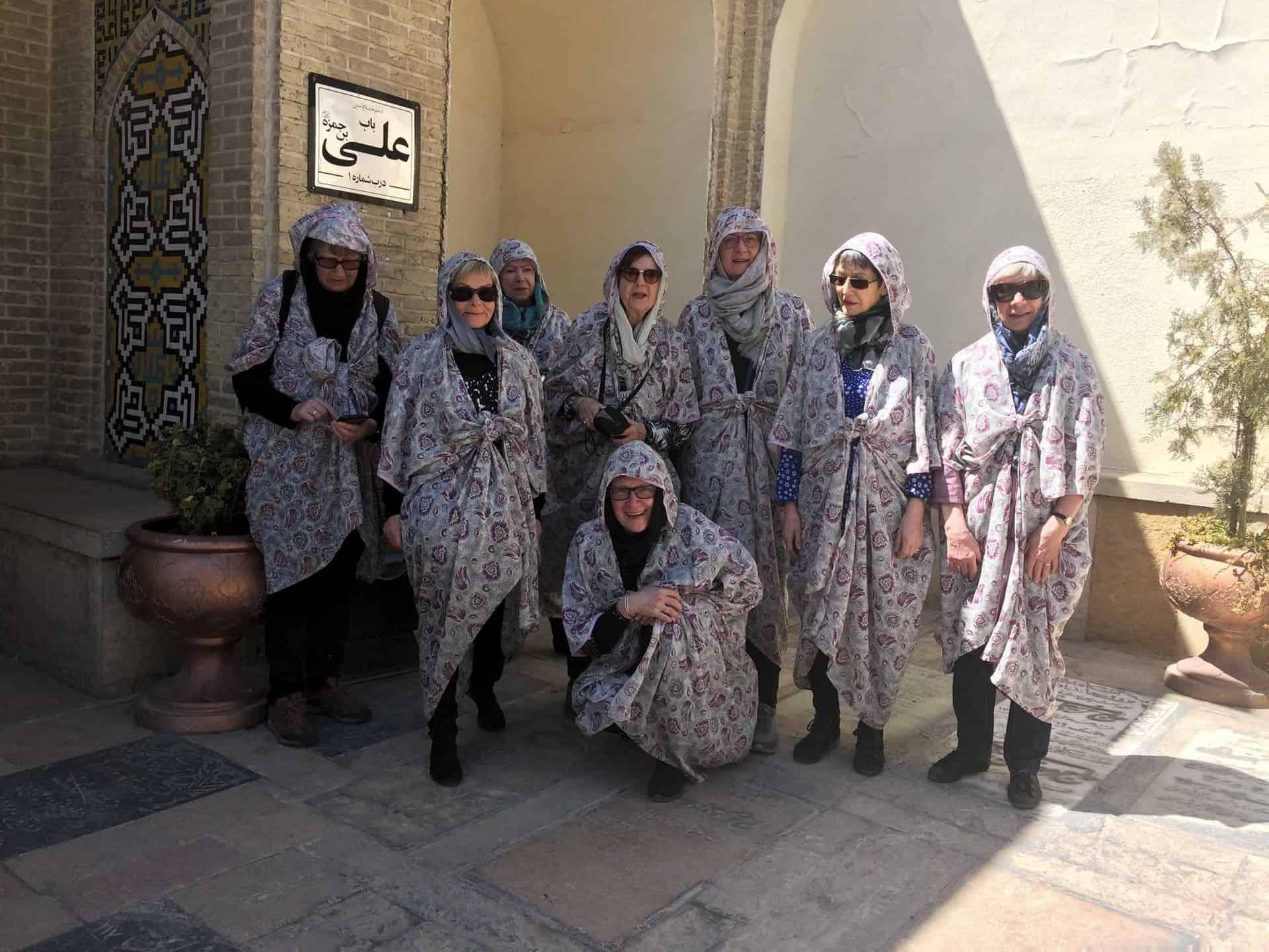 Gruppedeltagere på rejse til Iran