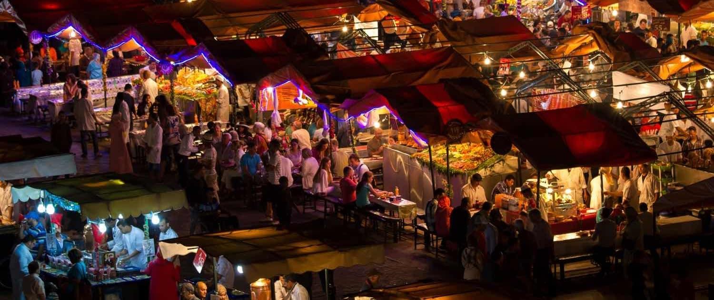 Jemaa EL Fna i Marokko