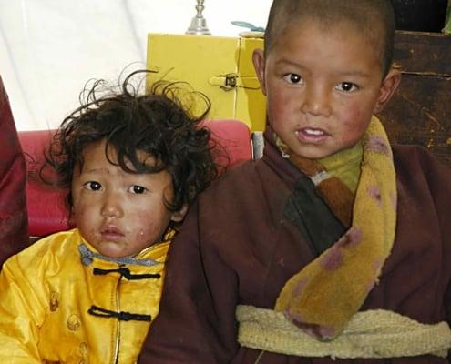 Nomadebørn i Tibet