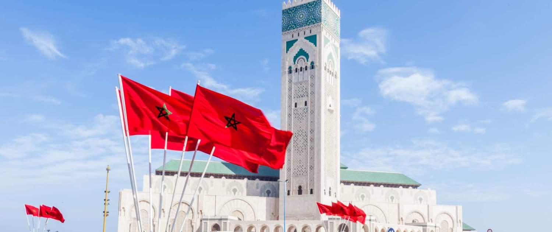 Monument og moske i Casablanca