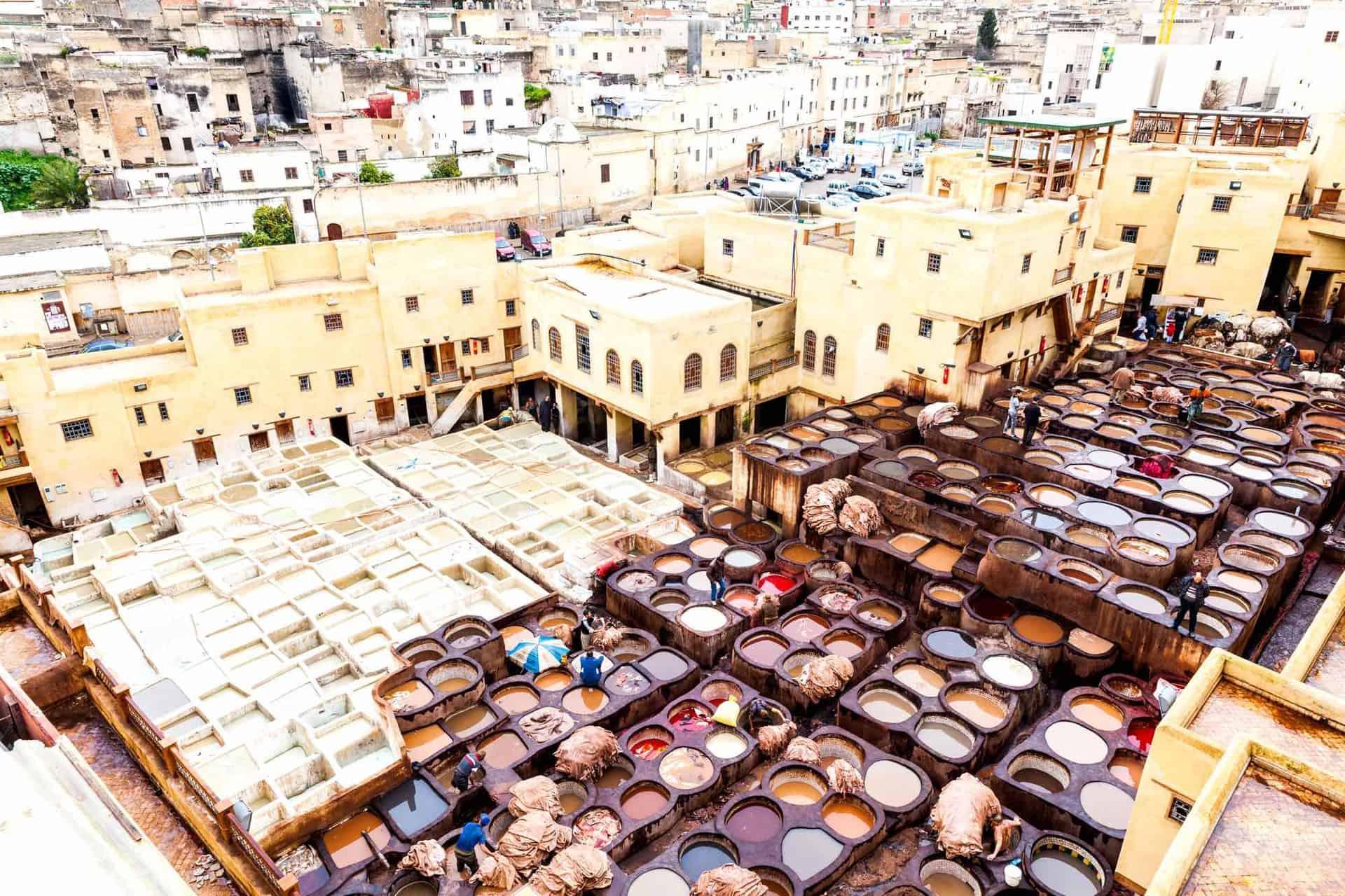Garverier i Fez set oppefra