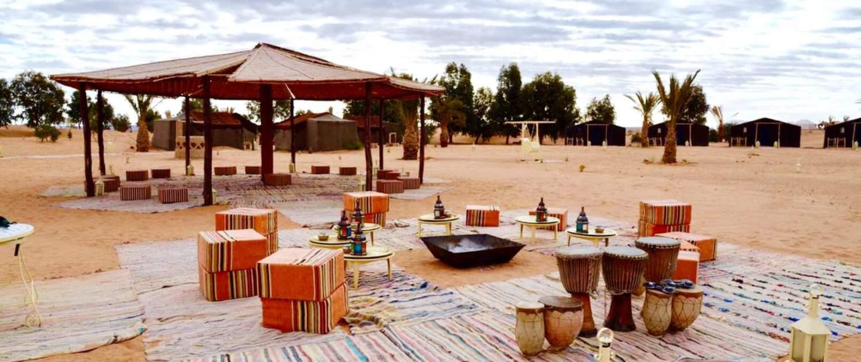 Erg Chebbi luksuscamp i den marokkanske ørken