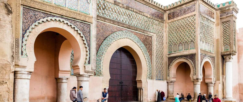 Bygning i Meknes i Marokko