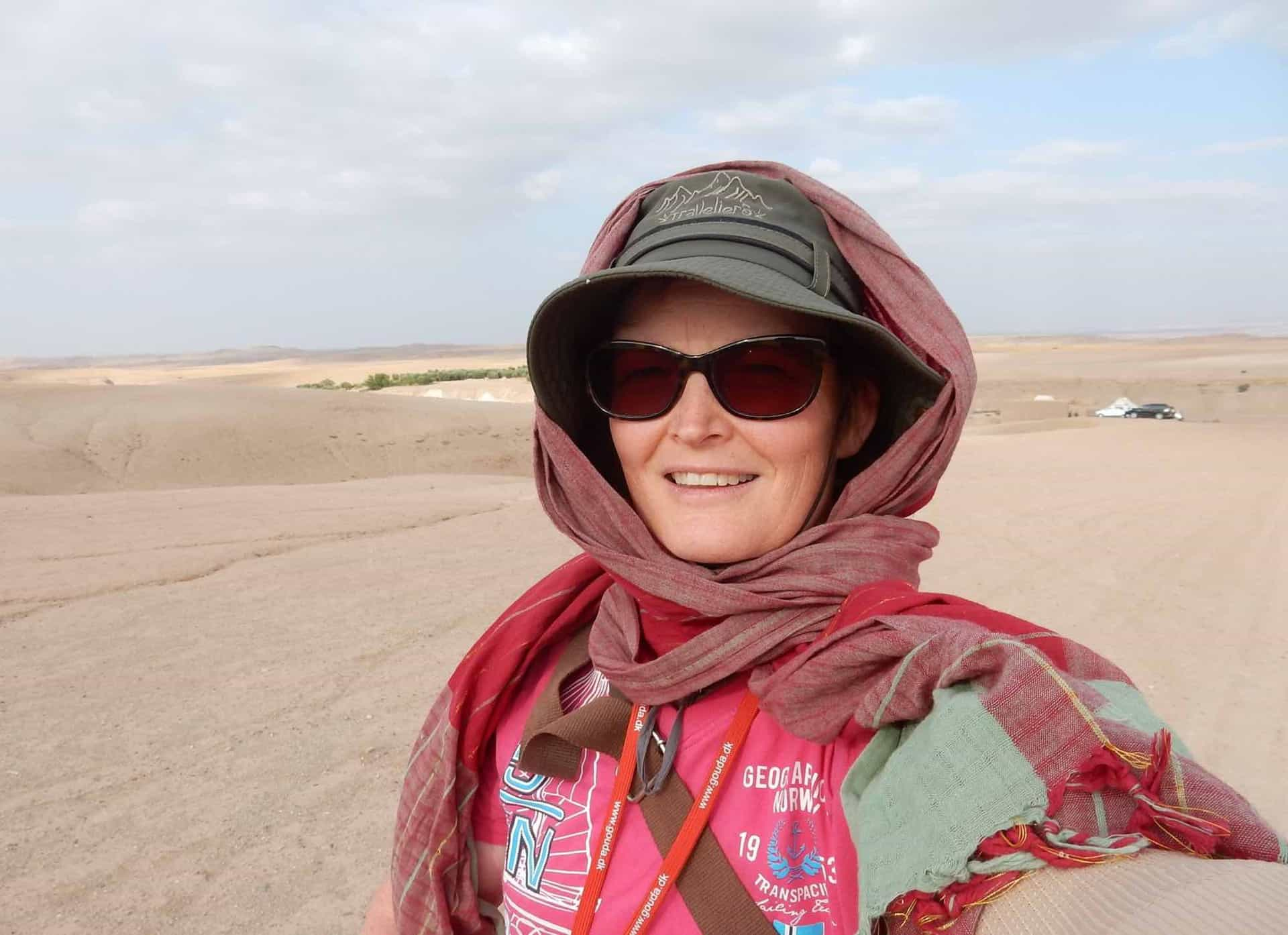 Rejseleder Lene Kohlhoff på rejse til Marokko