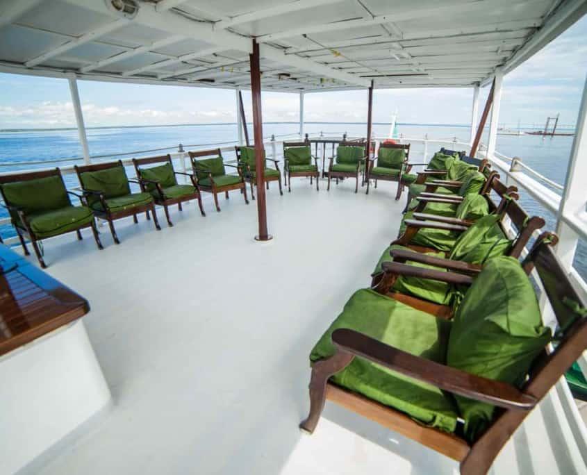 Dækket på cruiseskib Tucano